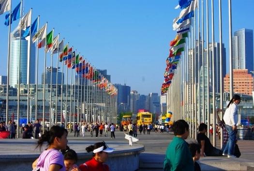 中国青島のオリンピックセンター