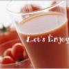 ドサクサに、トマトで紅色に染めてみた。