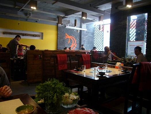 中国・青島のきのこ料理のお店。