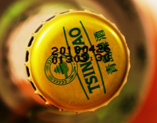 青島ビールの栓に書いてあるロット番号