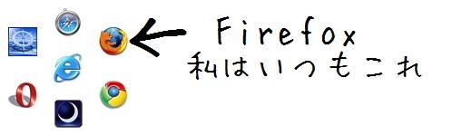 私がおすすめのブラウザはFirefox
