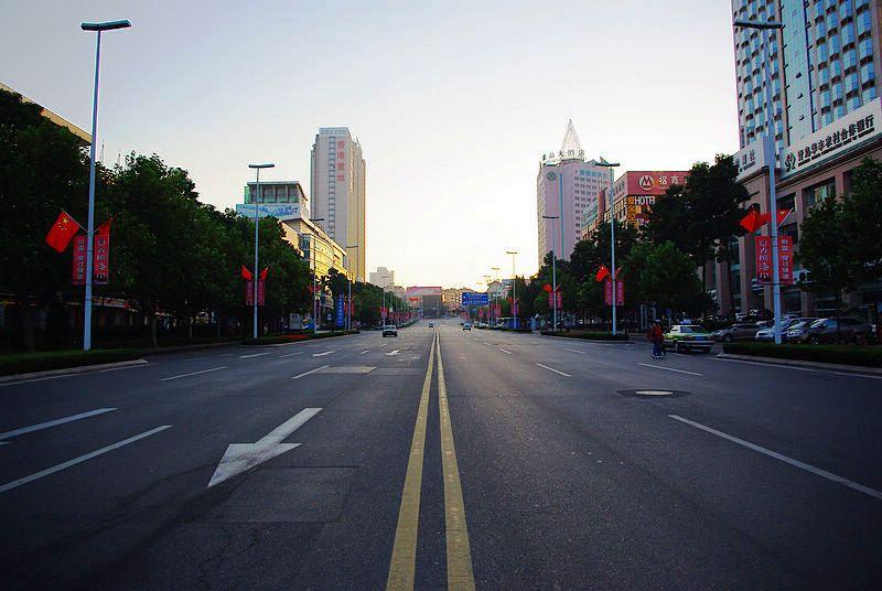 早朝の香港中路