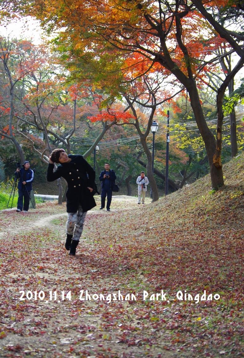 秋の中山公園。写真撮影会