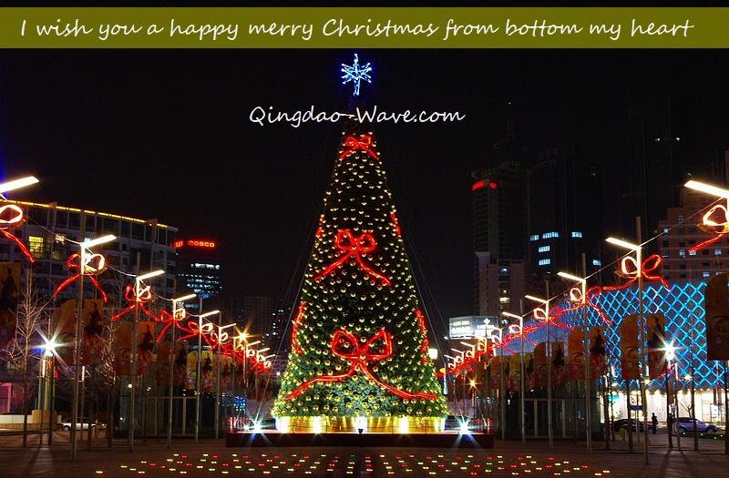 """中国青島から皆さんへ""""Merry Christmas !"""""""