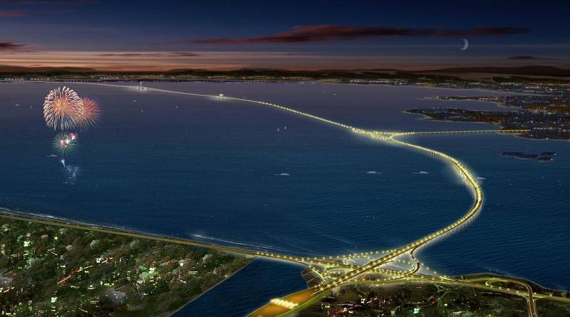 青島海湾大橋。イメージ