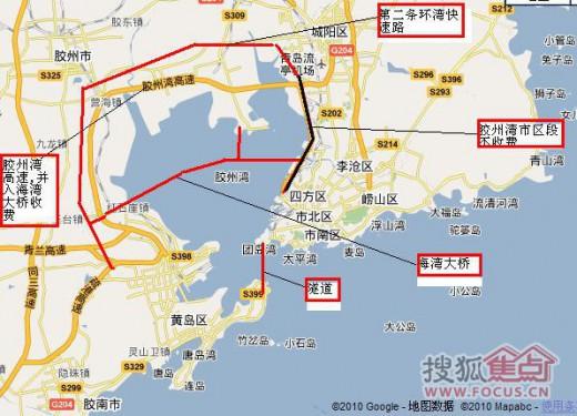 青島海湾大橋は青島と黄島を結ぶ