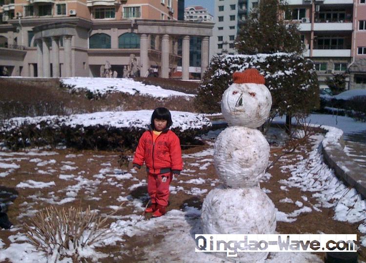 3月の雪だるま(雪人)