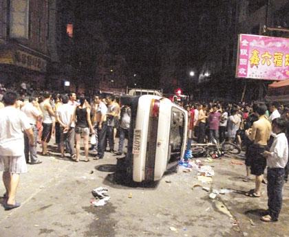 中国広州で暴動