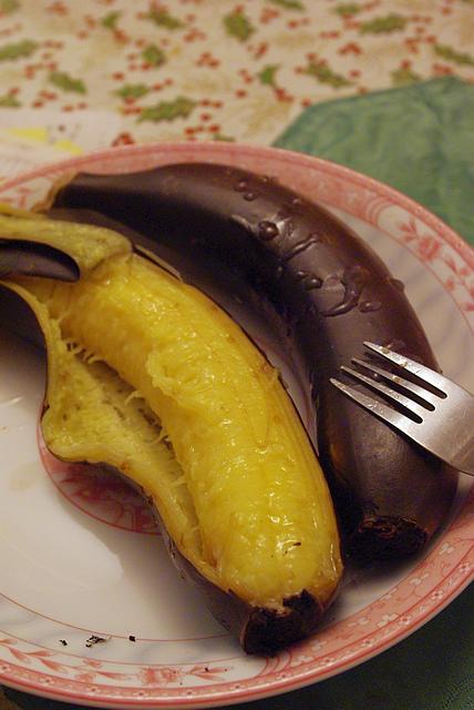 甘くてオイシー焼きバナナ