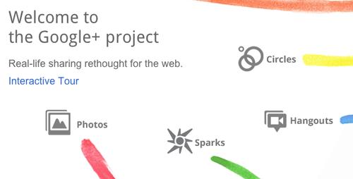 Google+の招待状が届きました。