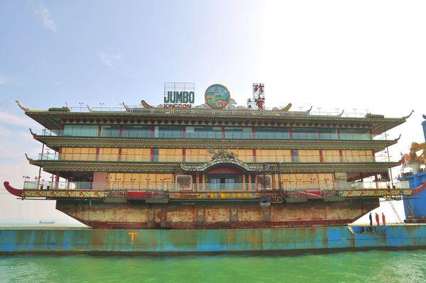 水上レストラン、JUMBOが青島入港