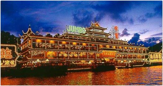 JUMBO(ジャンボ・珍宝)水上レストランが青島にやって来た。