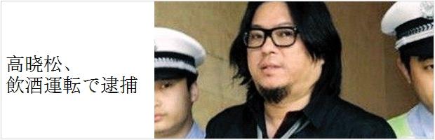 高晓松が飲酒運転で逮捕