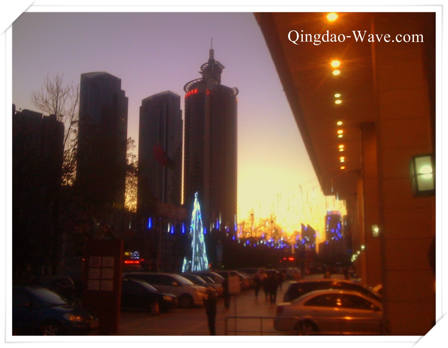 sunset qingdao 2011.12.16