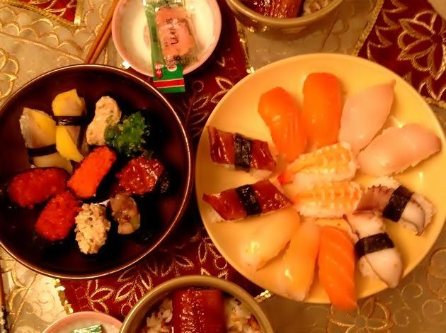 誕生日に食べたお寿司